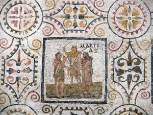 MOnth of March on the Sousse - Tunisia - Mosaic calendar