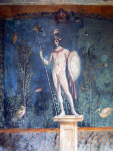 Fresco of a statue of Mars, god of war - Pompeii, 1st century AD