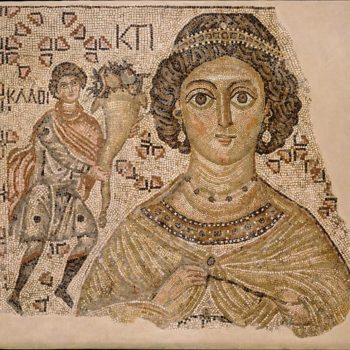 Ktisis byzantine mosaic, unknown provenance, Met Museum