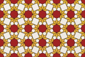 Roman Tile-087, Traditional tricolor arrangement, 2 x 3 elements