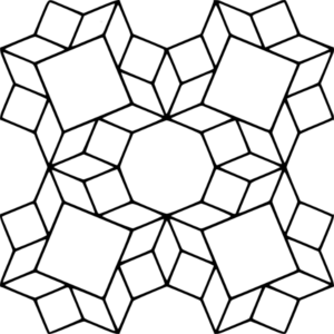 Roman Tile -087, basic element outlines