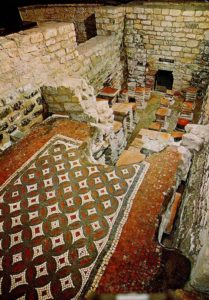 mosaic floor, Chedworth Villa