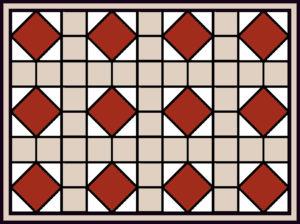 Variation # 1 - Aquileia Basilica mosaic Pattern