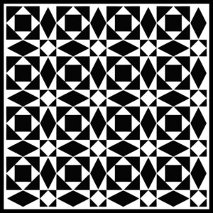 Roman Tile  - 13.  A bicolor design made from 16 basic elements