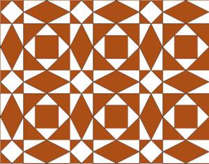 Saint Romain en Gal, Squares and Lozanges Patterns mosaic - Roman Tile - 13