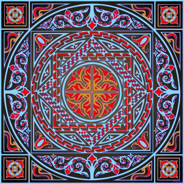 Wemberham Roman mosaic, variation #3