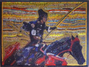 Yabusame mosaic