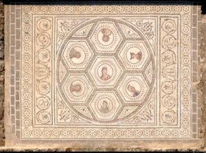 Mosaic of the Planetarium, Italica, Sevilla, Spain
