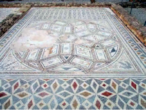 Medusa mosaic - house of the Planetarium, Italica.Spain