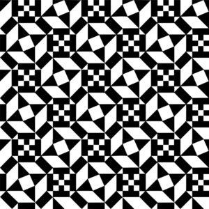 Black and White reproduction of an Ostia Marina geometric mosaic