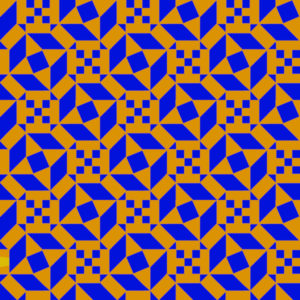 Bicolor reproduction of an Ostia Marina geometric mosaic