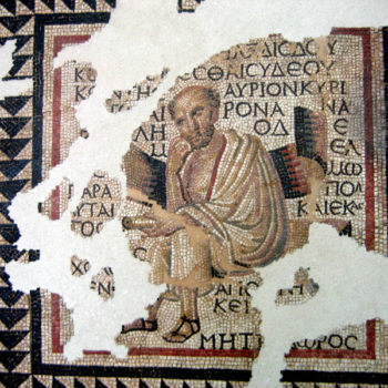 Mosaic of the Greek Philosophers, Autun_Anacreon