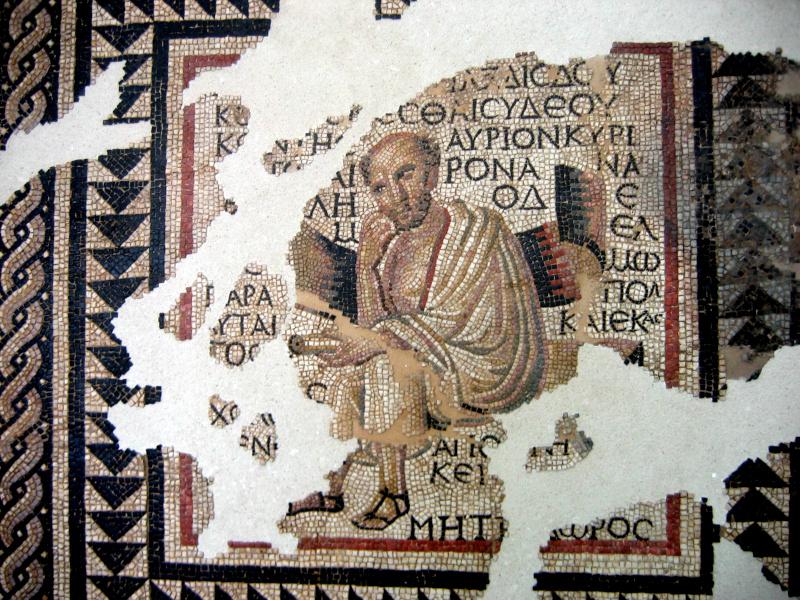 Mosaic of the Greek Philosophers, Autun_Anacreon