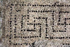 Opus signinum svastiska Uzes, ancient UCETIA, France.