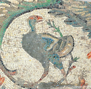 6th century Mosaic from the Great Palace rebuilt by Emperor Justinian after the Nika Riots, Istanbul, Turkey