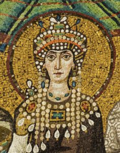 Theodora convinced Justinian to not give up during the Nika Riots.