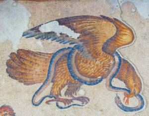 6th century AD byzantine mosaic from the great Palace rebuilt by Justinian after the Nika Riots, Istanbul mosaic museum