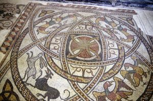 10th century mosaic style very similar to the one of the late empire style