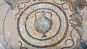 Wine jug medallion in the mosaicstyle of 5th century Aquitaine