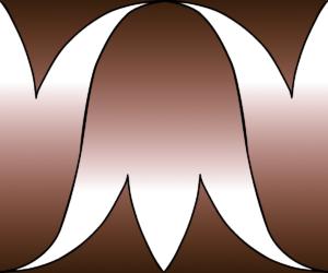 Basic element for mosaic models, double calice border