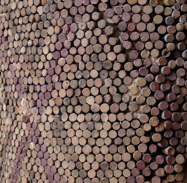 Close up of cone mosaic_Uruk, Mesopotamia