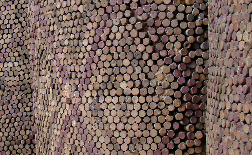 Close up of cone mosaic_Uruk, Mesopotamia