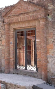 the entrance to the bath of Julia Felix in Pompeii