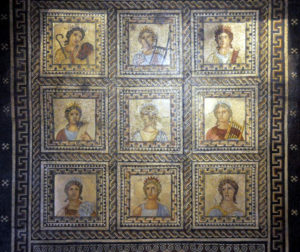 muses mosaic, Trier, Germany