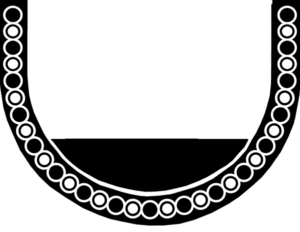 Black geometric part of the mosaic