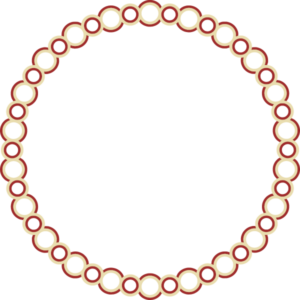 a complete circular border designe after the partial border of the Lullingstone Europa mosaic