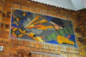 Art Deco mosaic, Post office of Saint Quentin, 02, Aisne, France.