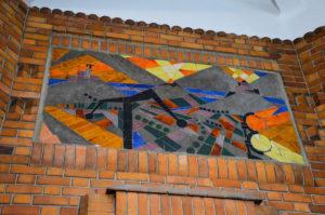 Art Deco mosaicin the post office of Saint Quentin, Aisne, France.