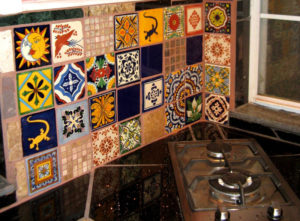 Mexican tiles backsplash to illustrate the Redfin blog
